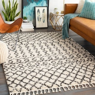 Link to The Curated Nomad Cobblehill Geometric Bohemian Shag Area Rug Similar Items in Shag Rugs