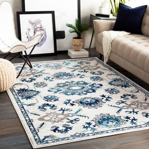 Porch & Den Listel Transitional Floral Area Rug