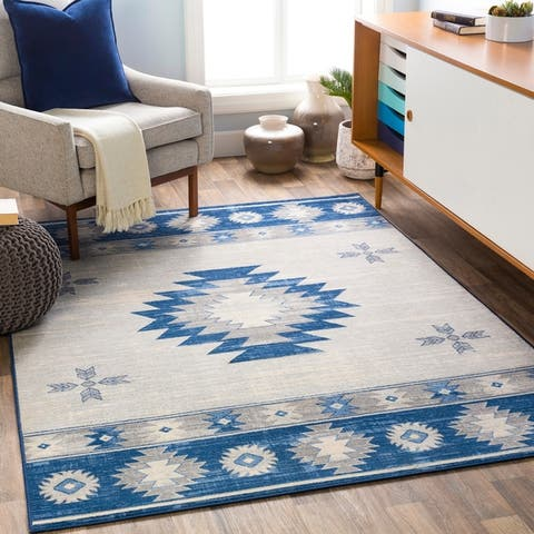 Karaugh Distressed Southwestern Area Rug