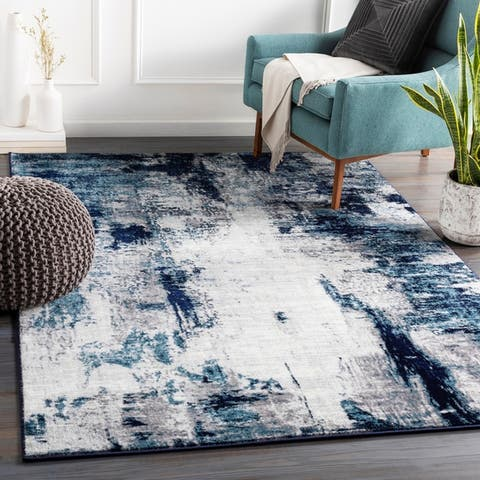 Porch & Den Morlock Industrial Abstract Area Rug