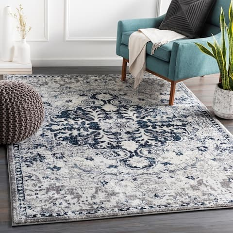 Columbus Distressed Bohemian Medallion Area Rug