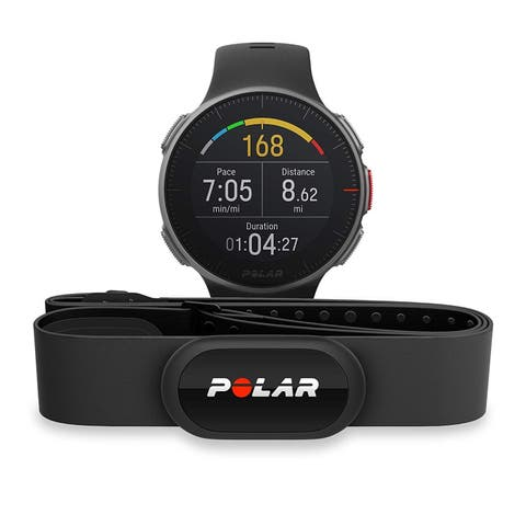 Polar Vantage V Multisport/Triathlon GPS Watch with H10 Heart Rate Monitor (M/L, Black)