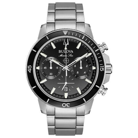 Bulova Men's 96B272 Marine Star Stainless Chrono Bracelet Watch