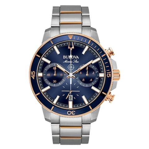 Bulova Men's 98B301 Marine Star Two-tone Chrono Bracelet Watch