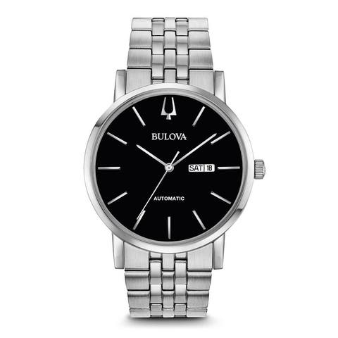 Bulova Men's 96C132 Classic Automatic Stainless Black Dial Bracelet Watch