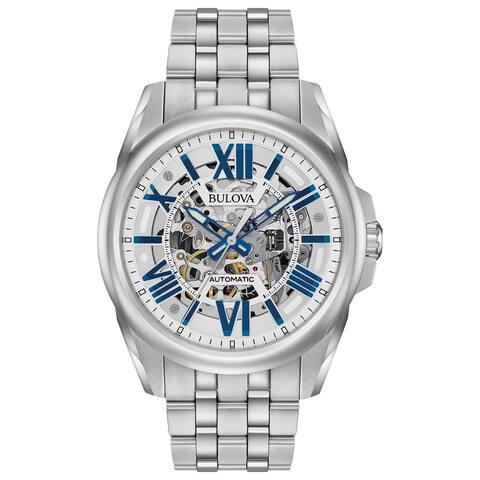 Bulova Men's 96A187 Automatic Stainless Skeleton Dial Bracelet Watch