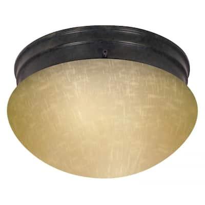 2-Light 10 In. Mushroom Flush