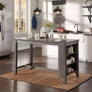 Brandi Grey Counter Height Table with Side Storage by iNSPIRE Q Classic