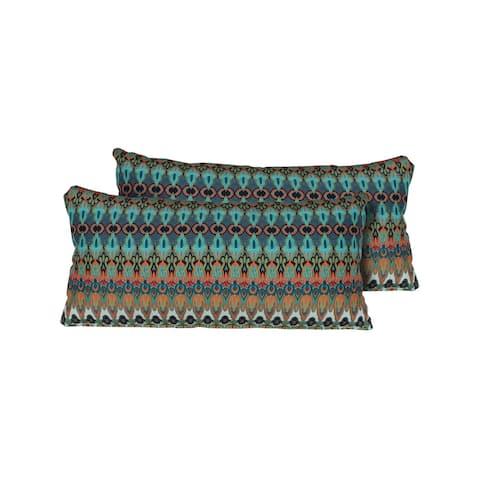 Moroccan Outdoor Throw Pillows Rectangle Set of 2