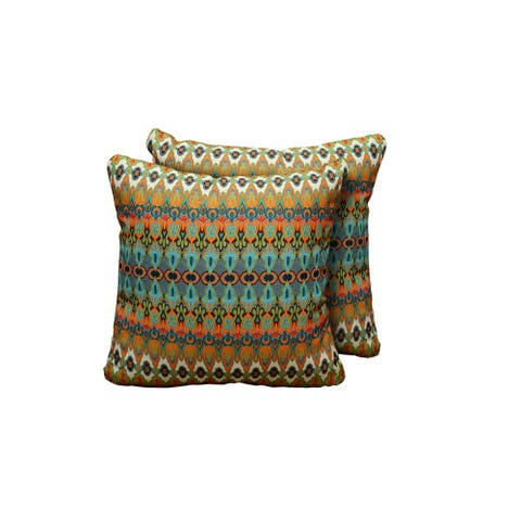 Moroccan Outdoor Throw Pillows Square Set of 2