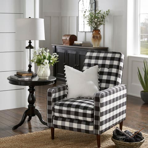 Carson Carrington Ilvanbo Check Plaid Accent Chair