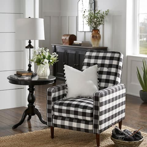 Carson Carrington Ilvanbo Check Plaid Accent Chair - Accent Chair