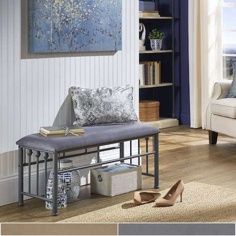 Liane Metal Accent Bench with Cushion by iNSPIRE Q Classic