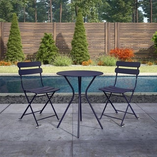 Link to COSCO Outdoor Living 3 Piece Bistro Set with 2 Folding Chairs Similar Items in Patio Furniture