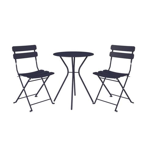 COSCO Outdoor Living 3 Piece Bistro Set with 2 Folding Chairs