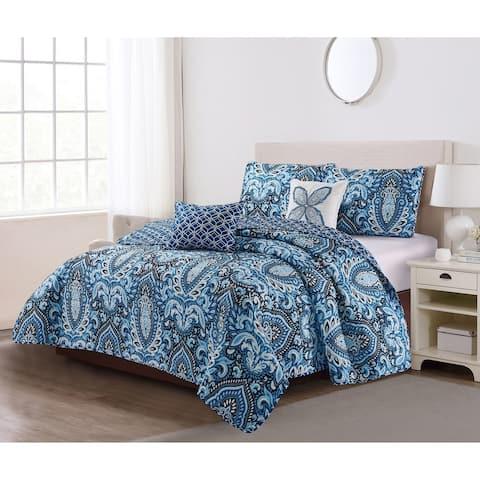 Porch & Den Dreamwood 5-piece Quilt Set