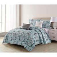 Harper Lane Travel to Paris 5-piece Quilt Set