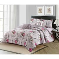 Harper Lane Vintage Paris 5-piece Quilt Set