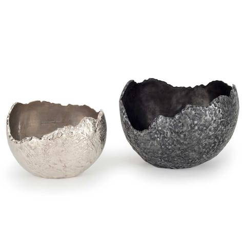 Silver Orchid Luts Metal Bowls
