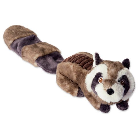 DII Beaver & Fox Plush Ring with Squeaker Pet Toy (Set of 2)