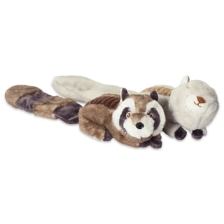 DII Beaver & Fox Plush Ring With Squeaker Pet Toy (Set of 2) (Plush Squeaker - Lucy Squirrel & Sophie Raccoon)