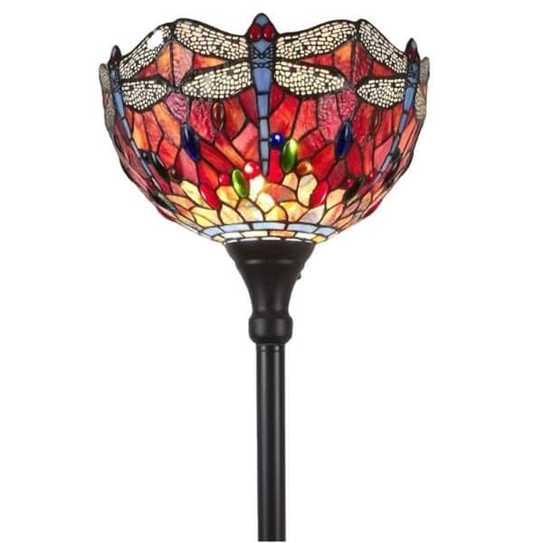 Tiffany Style Floor Lamp Torchiere Standing 72 Tall
