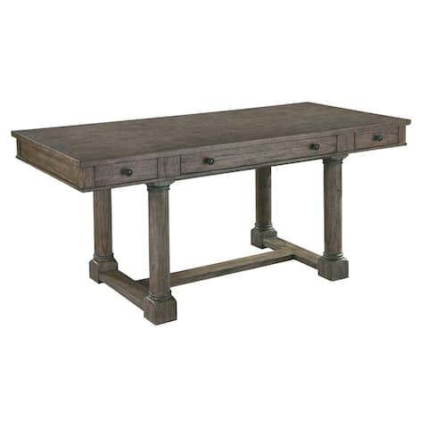 Solid Wood Rectangular Writing Office Desk - Hekman