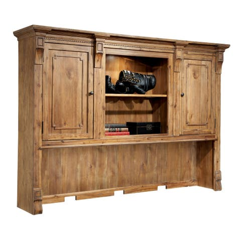 Solid Wood Executive Office Hutch Top - Home Office