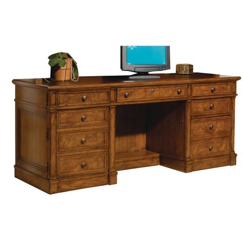 Solid Wood Credenza Executive Office Desk - Home Office