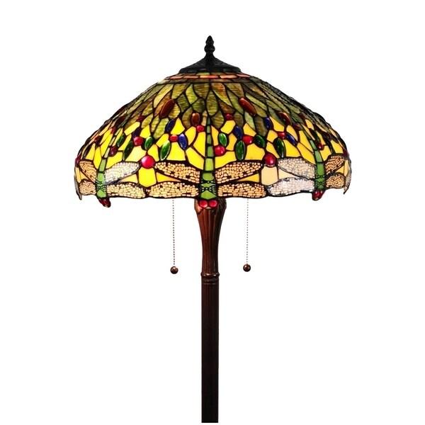 Shop AM1028FL18B Tiffany Style Dragonfly Floor Lamp, 18 ...