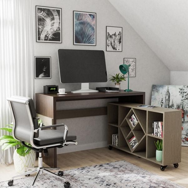 Copper Grove Samtredia Chestnut Brown 47-inch Modular Desk. Opens flyout.