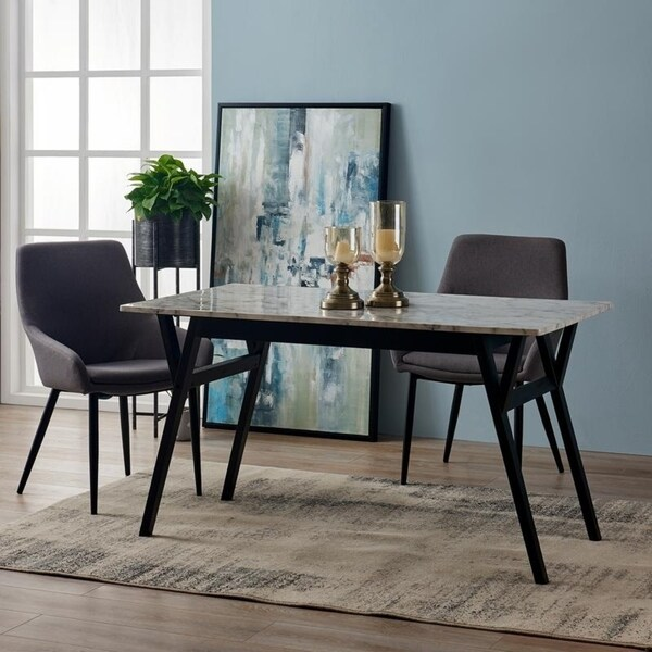 Ashton Rectangular Dining Table- Faux