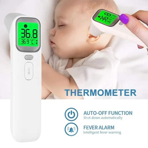 Digital Forehead Thermometer Acousto-optic Alarm Fever Reminds Ear Temperature Infrared Thermometers for Infants Children Adults