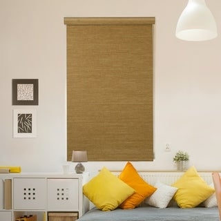 Link to GoDear Design Modern Free Stop Cordless Roller Shade with Cassette Valacne, Natural Woven, Sand Similar Items in Blinds & Shades