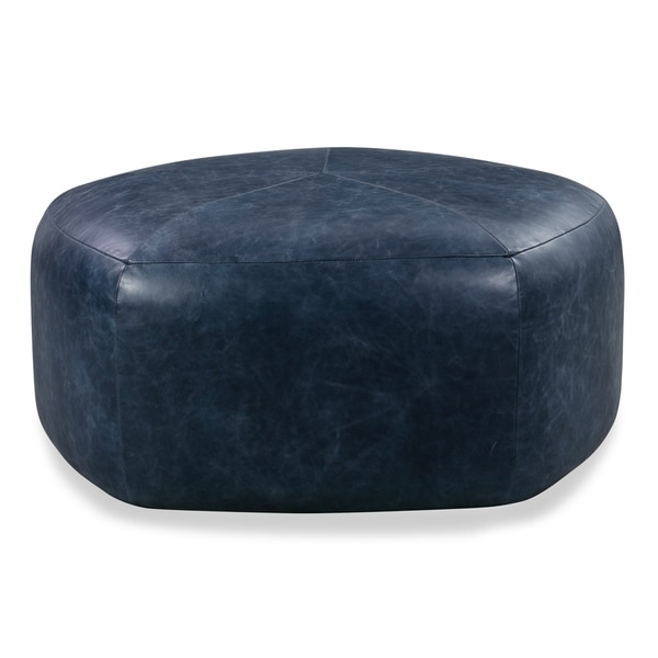 Poly and Bark Porto Italian Tanned Leather Ottoman. Opens flyout.