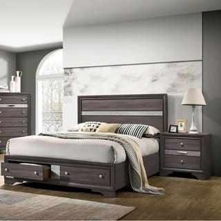 Silver Orchid Bara Contemporary Grey 3-piece Bedroom Set