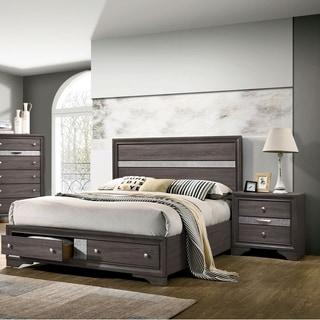 Silver Orchid Bara Contemporary Grey 3-piece Bedroom Set