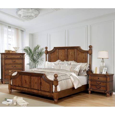 The Gray Barn Denisov Den Traditional Light Oak 3-piece Bedroom Set