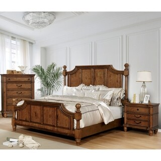 The Gray Barn Denisov Den Traditional Light Oak 3-piece Bedroom Set