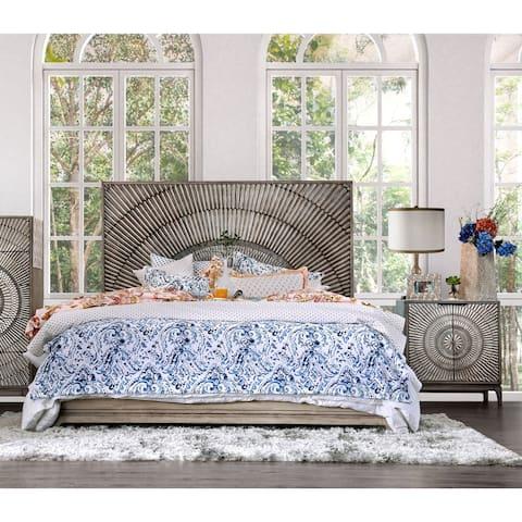 Furniture of America Levant Global Antique Grey 2-piece Bedroom Set