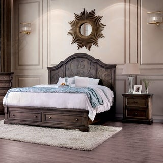 Gracewood Hollow Obreht Rustic Walnut 3-piece Bedroom Set