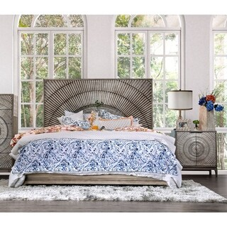 The Curated Nomad Levant Global Antique Grey 3-piece Bedroom Set