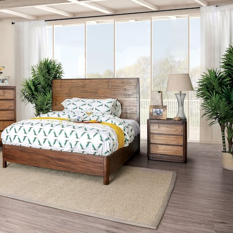 The Curated Nomad Lakeview Coastal Antique Brown 3-piece Bedroom Set