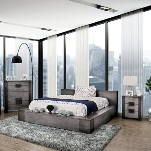 Furniture of America Burton Grey 3-piece Bedroom Set