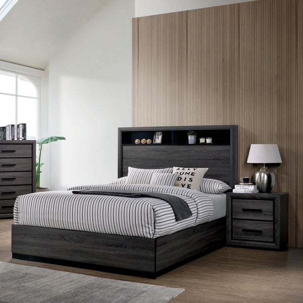 Strick & Bolton Soami Grey 3-piece Bedroom Set