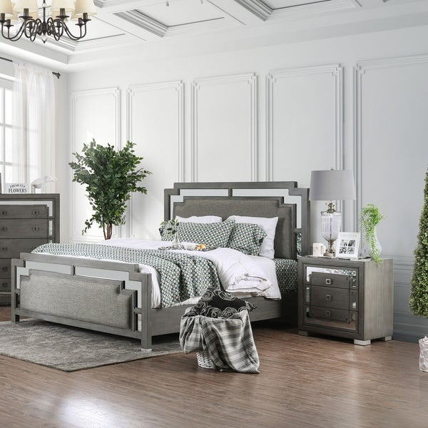 Silver Orchid Bara Contemporary Grey 2 Piece Bedroom Set by Silver Orchid
