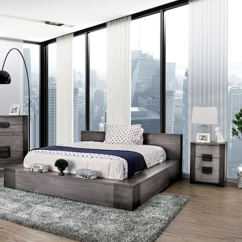 Furniture of America Burton Grey 3-piece Bedroom Set