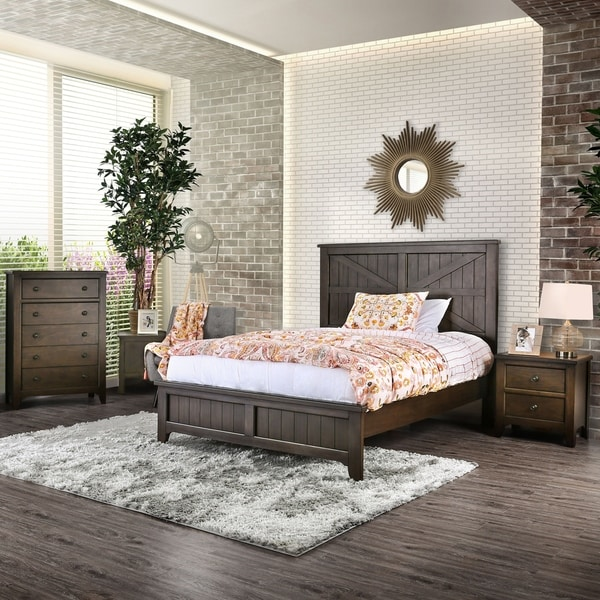 The Gray Barn Broken Arrow Farmhouse Dark Walnut 3-piece Bedroom Set