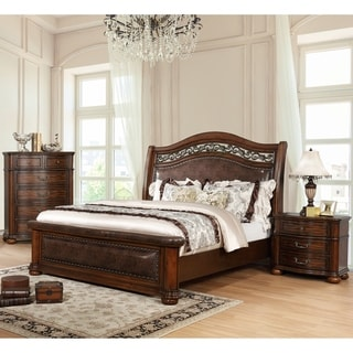 Gracewood Hollow Samarah Traditional Brown Cherry 3-piece Bedroom Set