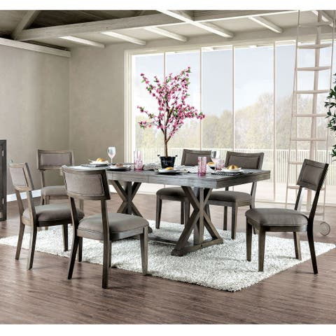 Carbon Loft Doggett Rustic Grey 7-piece Expandable Dining Set